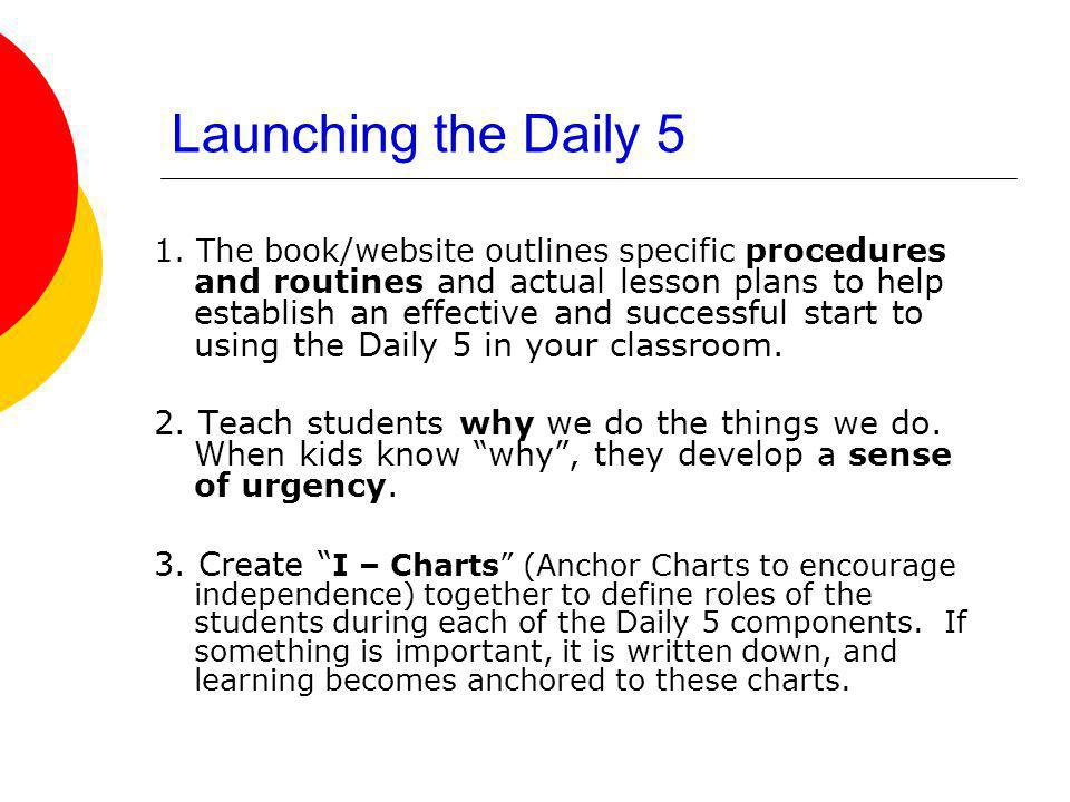 Launching the Daily 5
