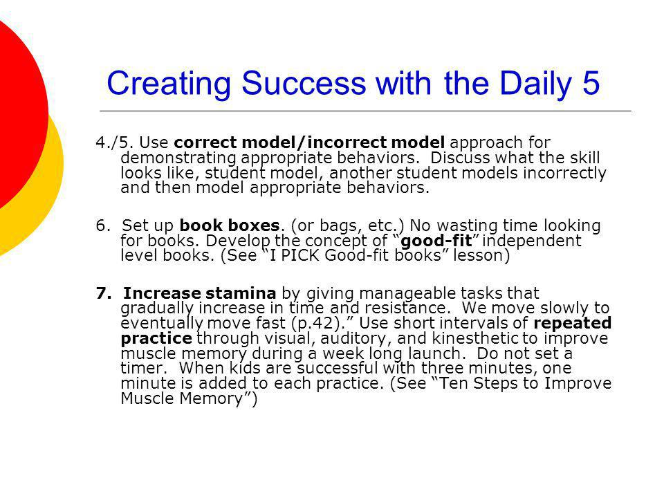 Creating Success with the Daily 5