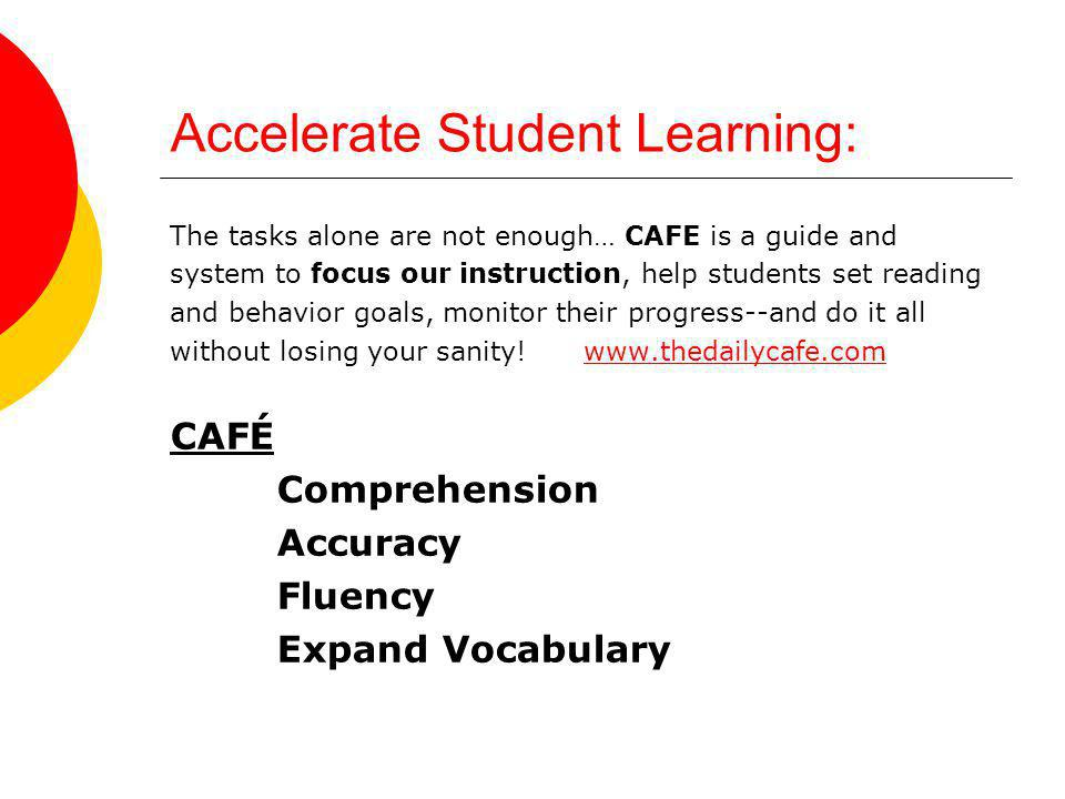 Accelerate Student Learning: