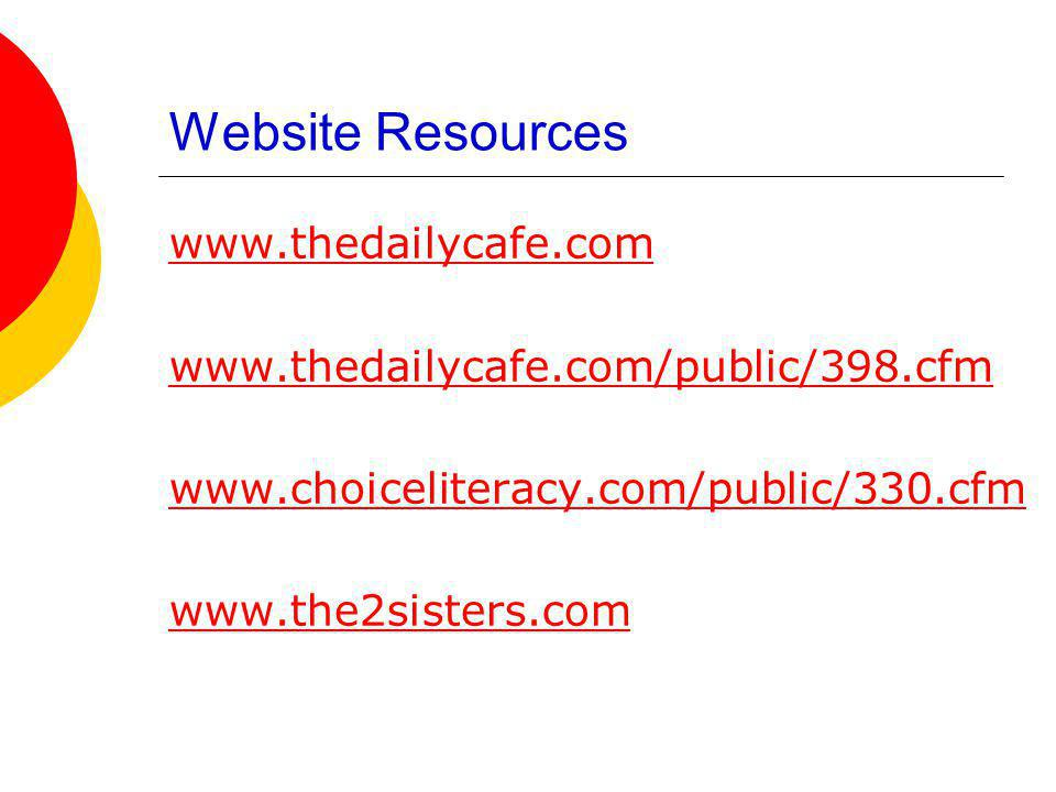 Website Resources www.thedailycafe.com