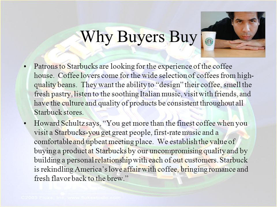 Why Buyers Buy