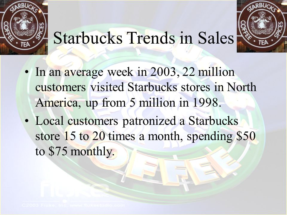 Starbucks Trends in Sales