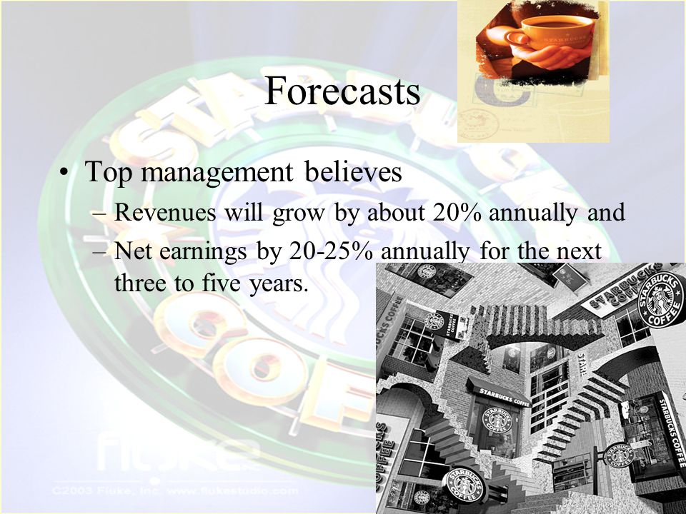 Forecasts Top management believes