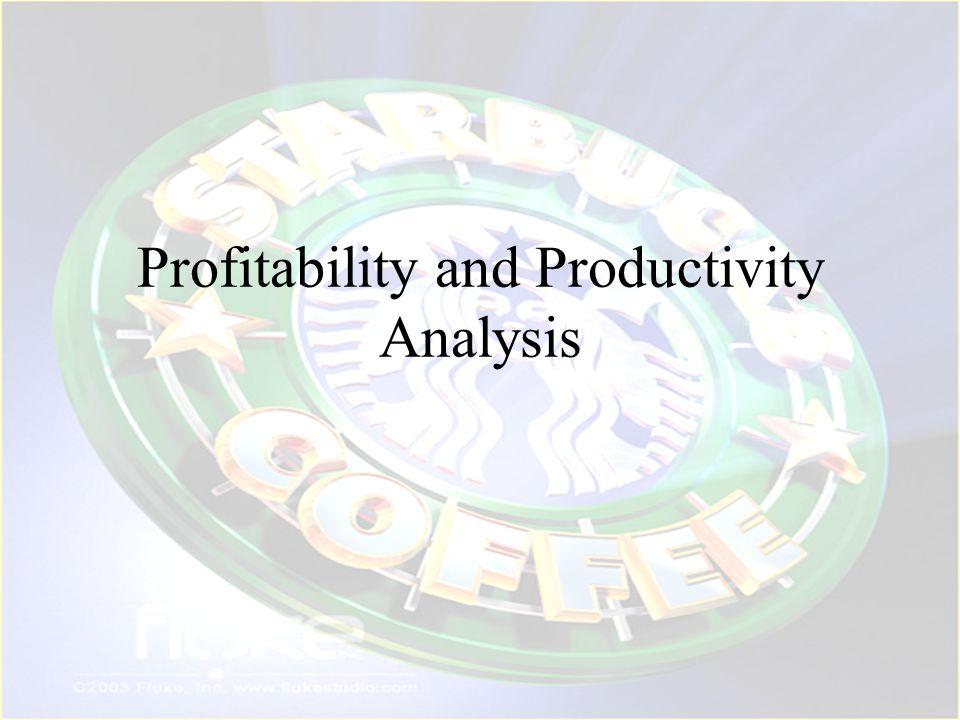 Profitability and Productivity Analysis
