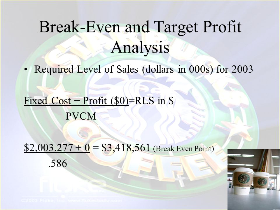 Break-Even and Target Profit Analysis