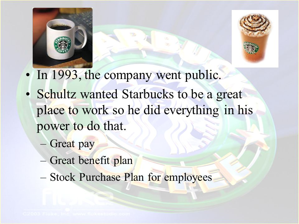In 1993, the company went public.