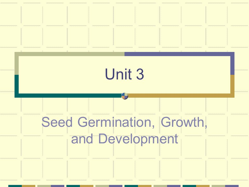 Seed Germination, Growth, and Development