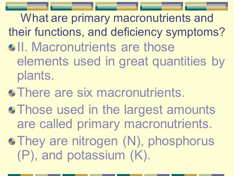 There are six macronutrients.