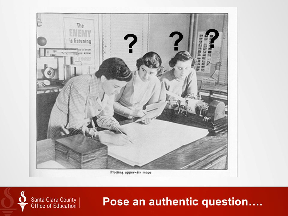 Pose an authentic question….