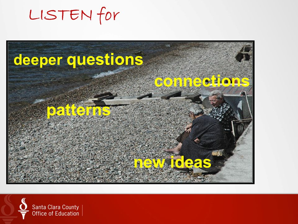 LISTEN for connections patterns new ideas deeper questions