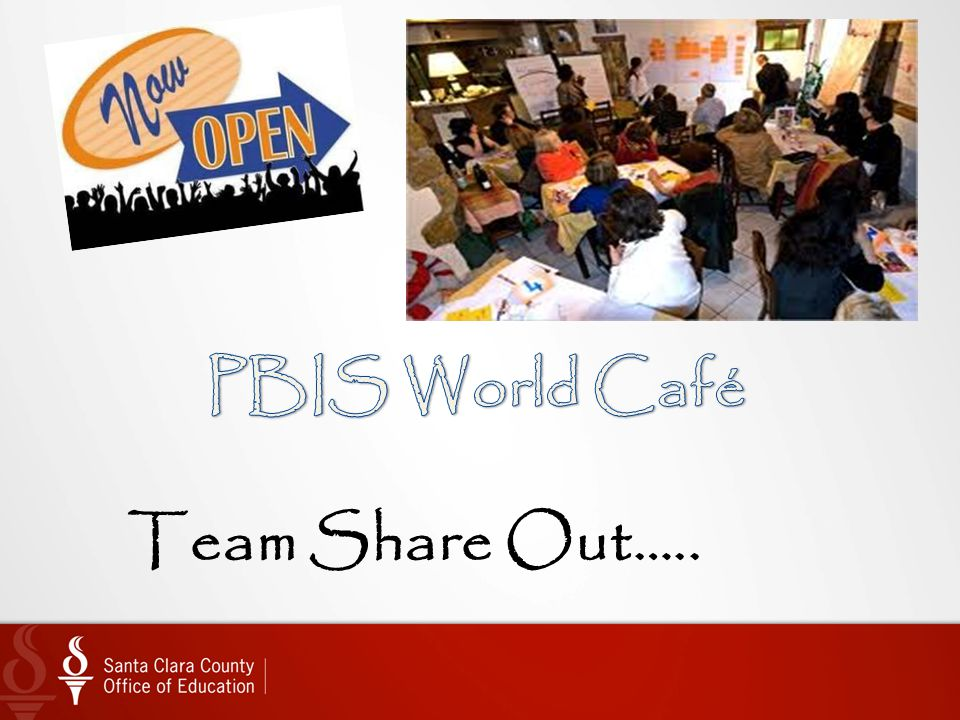PBIS World Café Team Share Out…..