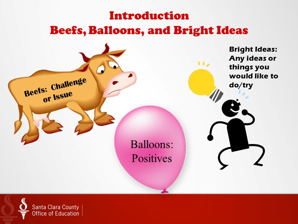 Introduction Beefs, Balloons, and Bright Ideas