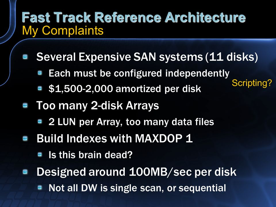 Fast Track Reference Architecture