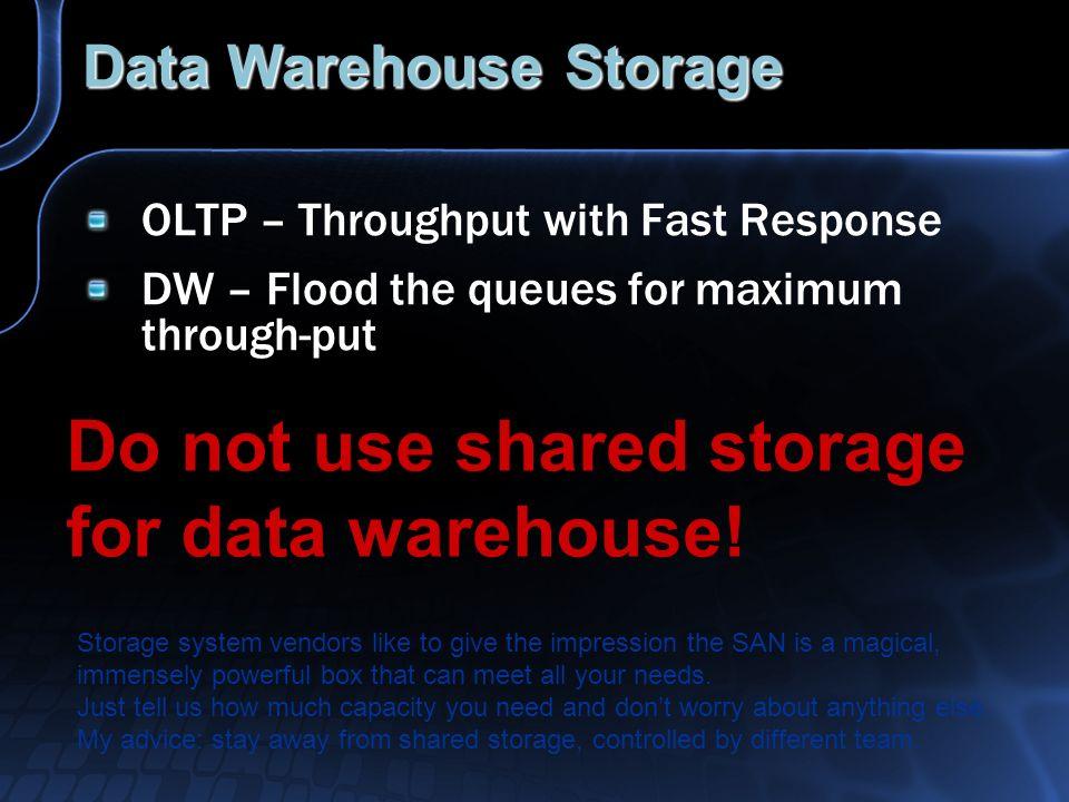 Data Warehouse Storage