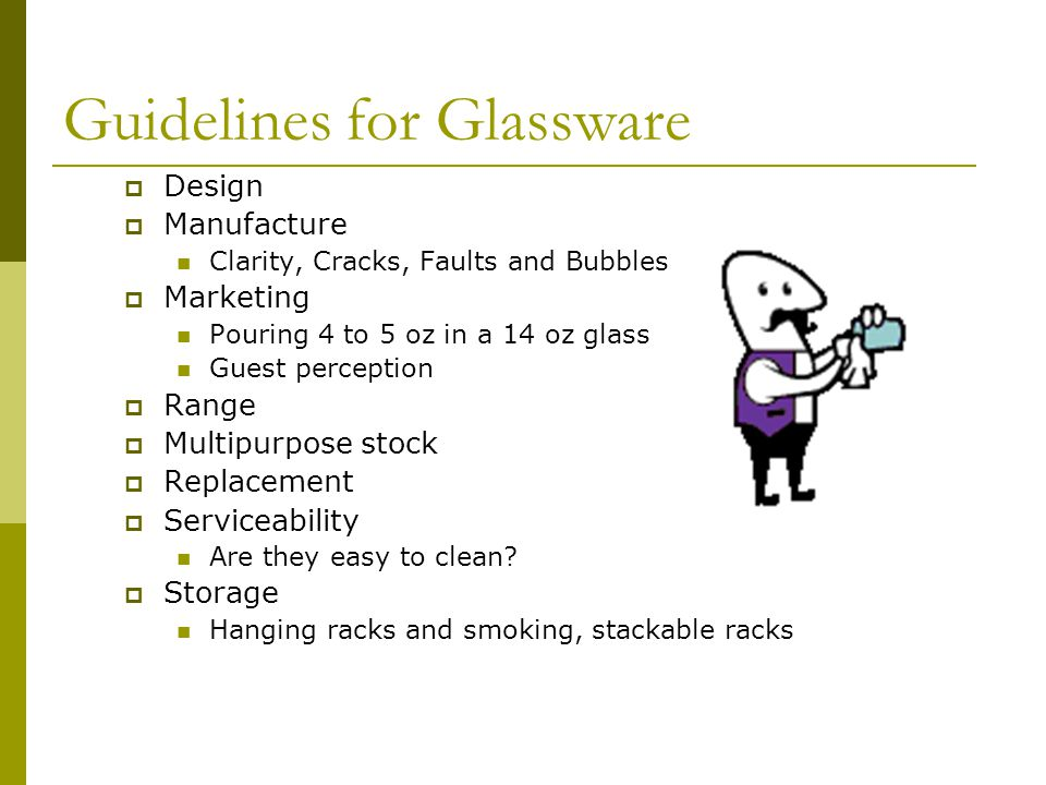 Guidelines for Glassware