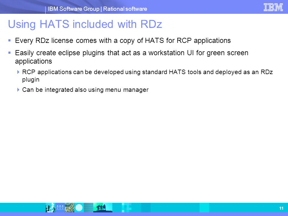 Using HATS included with RDz