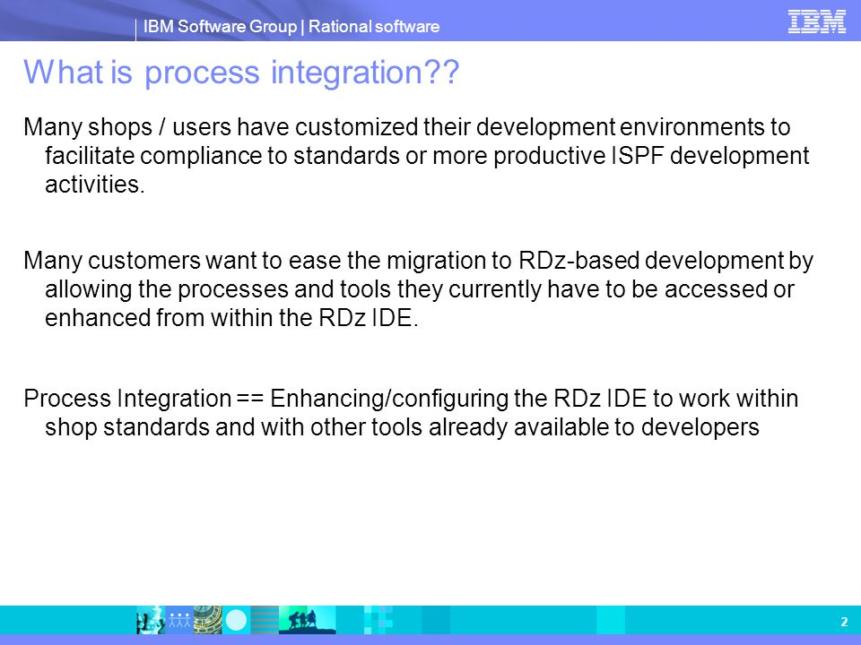 What is process integration