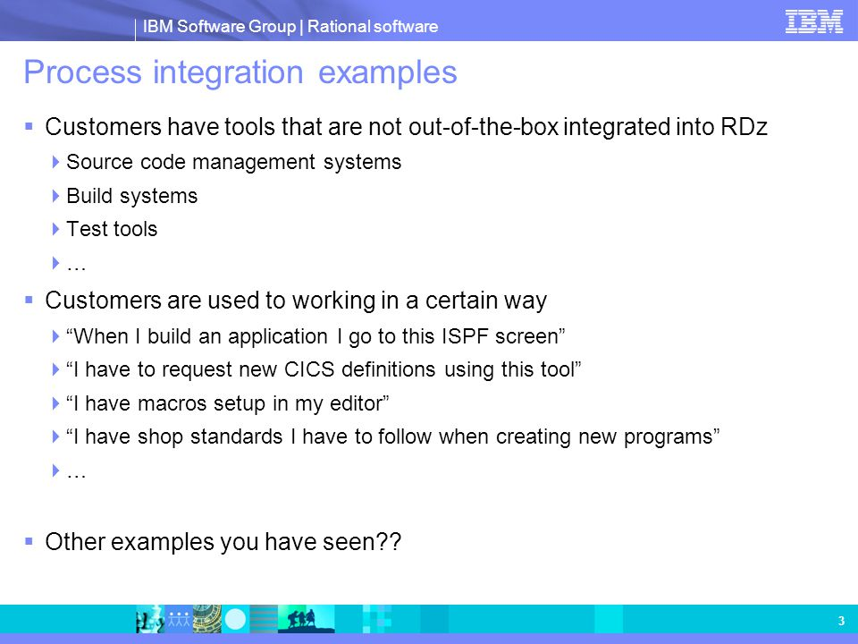 Process integration examples