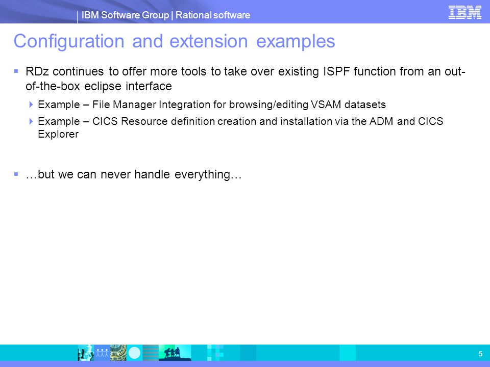 Configuration and extension examples