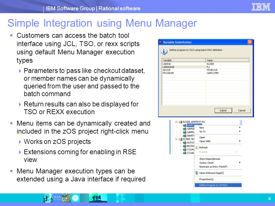 Simple Integration using Menu Manager