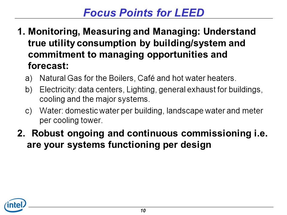 Focus Points for LEED