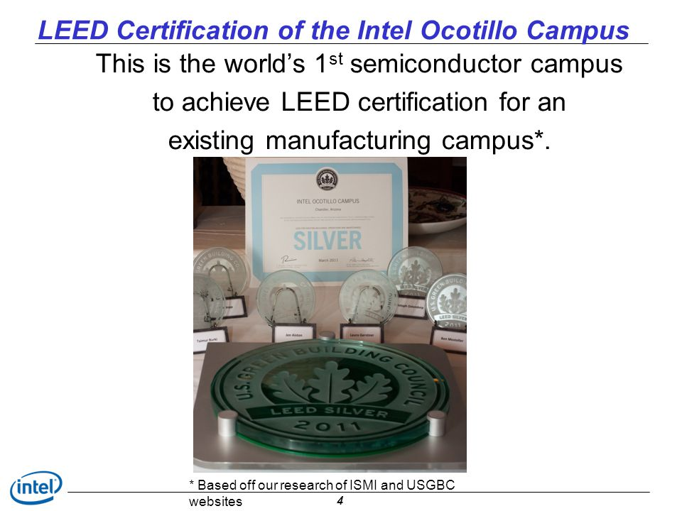 LEED Certification of the Intel Ocotillo Campus