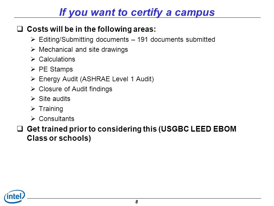 If you want to certify a campus