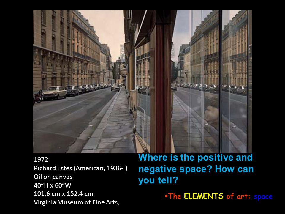 The ELEMENTS of art: space