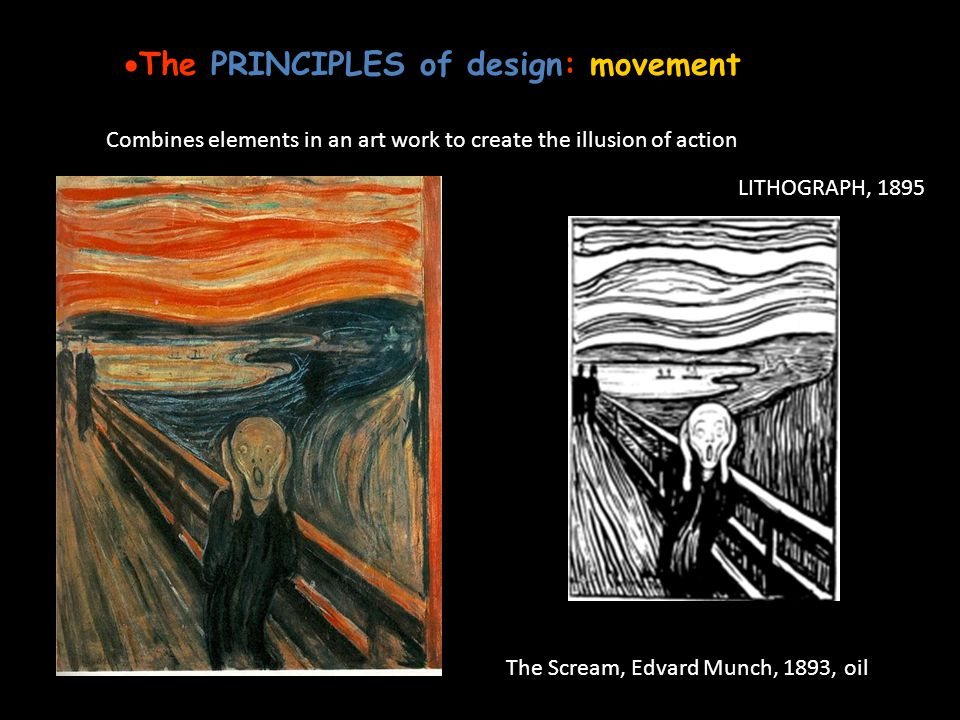 The PRINCIPLES of design: movement