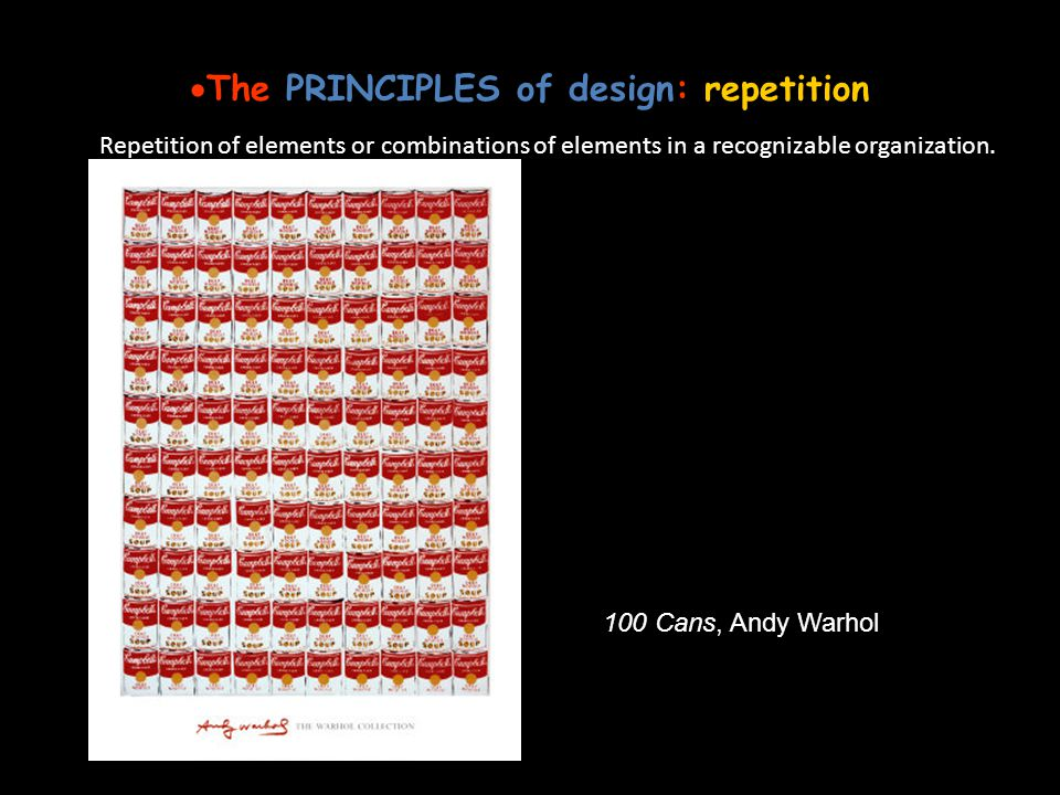 The PRINCIPLES of design: repetition