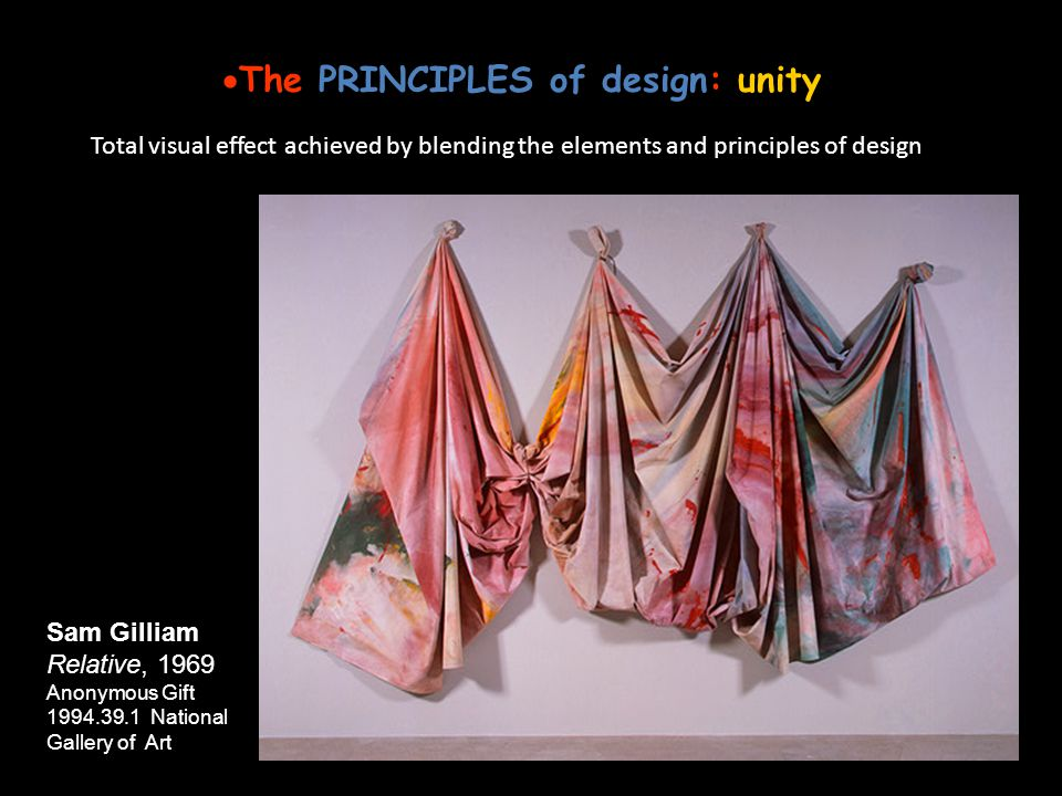 The PRINCIPLES of design: unity