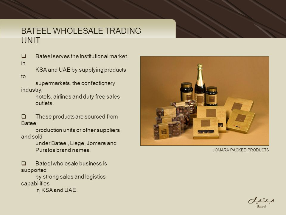 BATEEL WHOLESALE TRADING UNIT