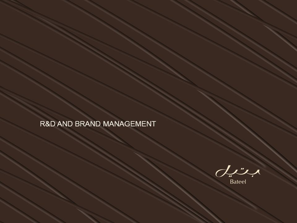 R&D AND BRAND MANAGEMENT