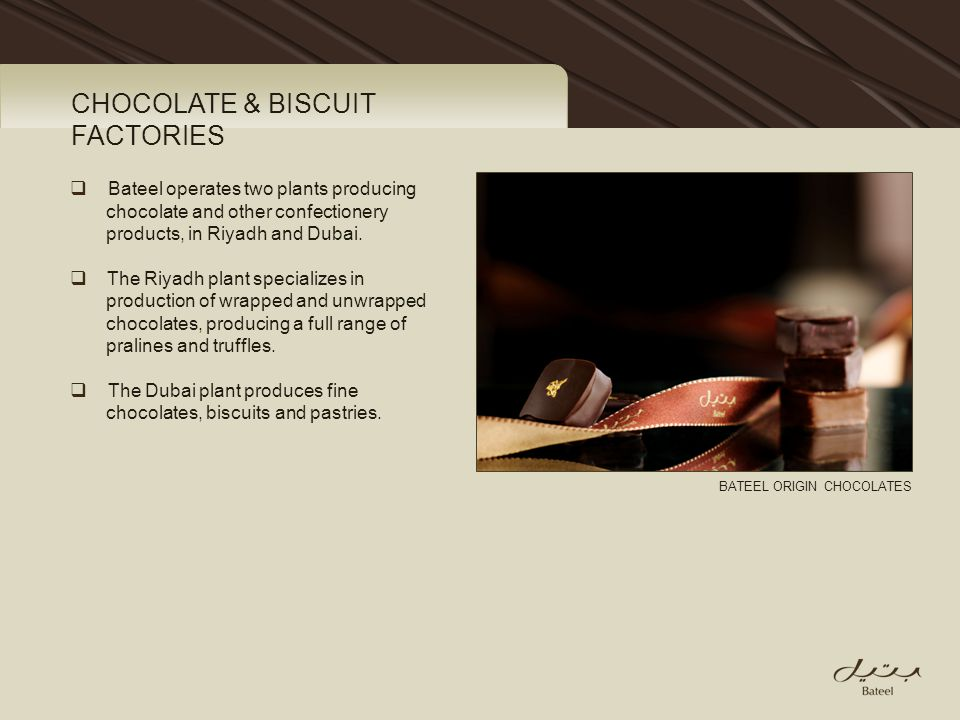 CHOCOLATE & BISCUIT FACTORIES
