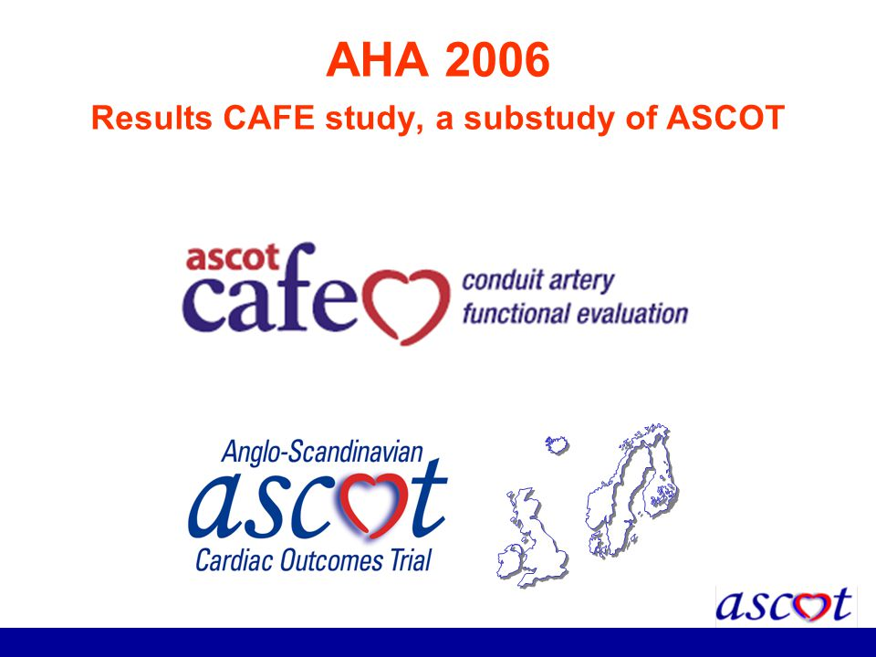 AHA 2006 Results CAFE study, a substudy of ASCOT