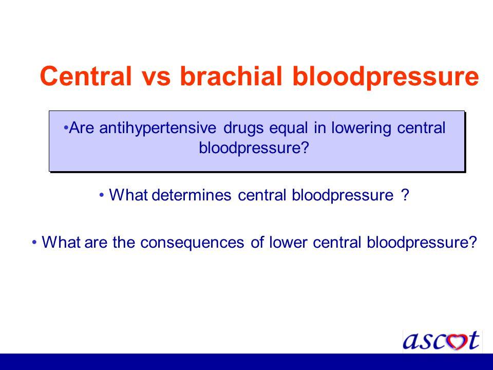 Central vs brachial bloodpressure