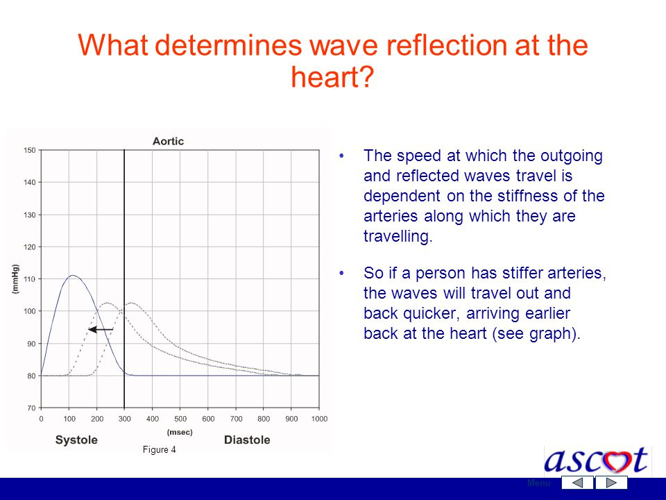 What determines wave reflection at the heart