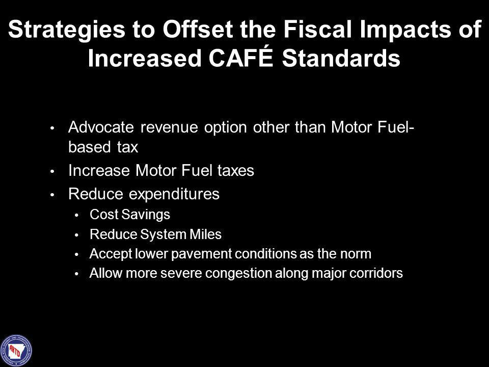 Strategies to Offset the Fiscal Impacts of Increased CAFÉ Standards