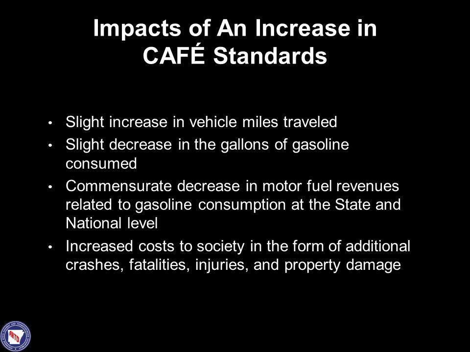 Impacts of An Increase in CAFÉ Standards