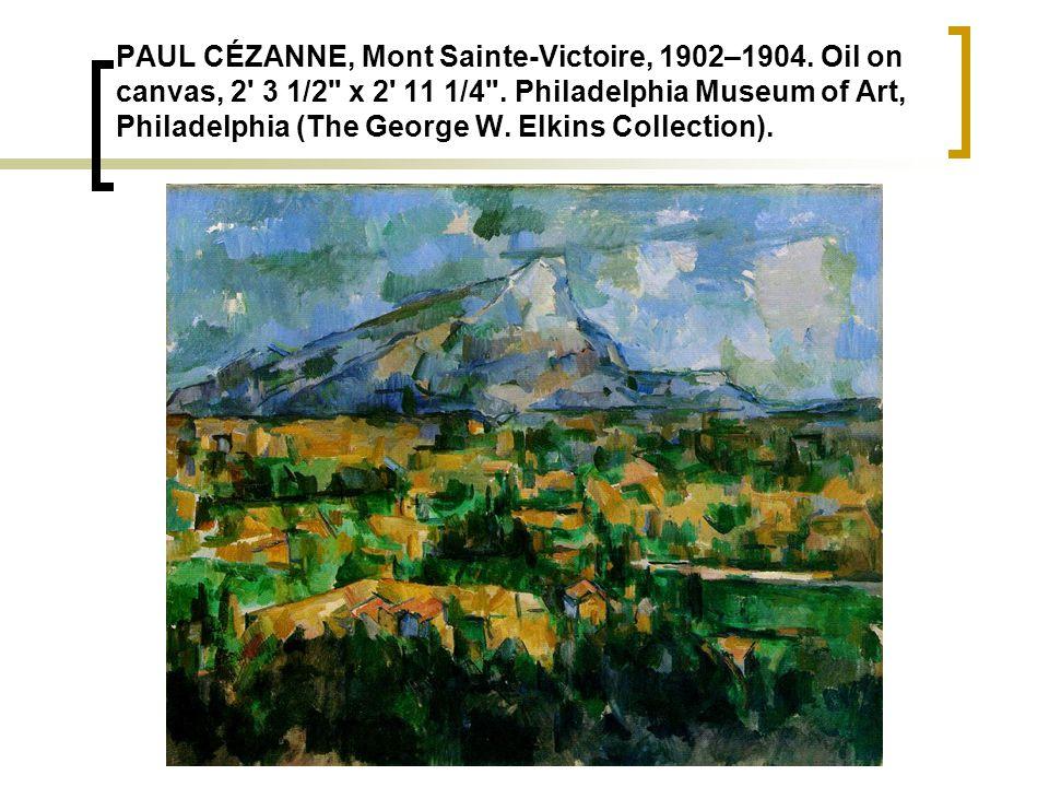 PAUL CÉZANNE, Mont Sainte-Victoire, 1902–1904