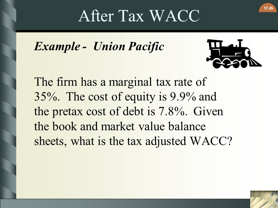 After Tax WACC Example - Union Pacific