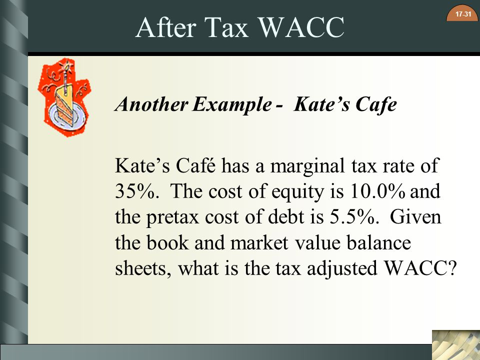 After Tax WACC Another Example - Kate's Cafe