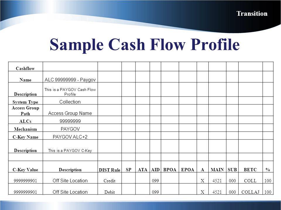 Sample Cash Flow Profile