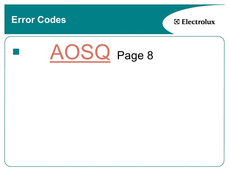 Error Codes AOSQ Page 8
