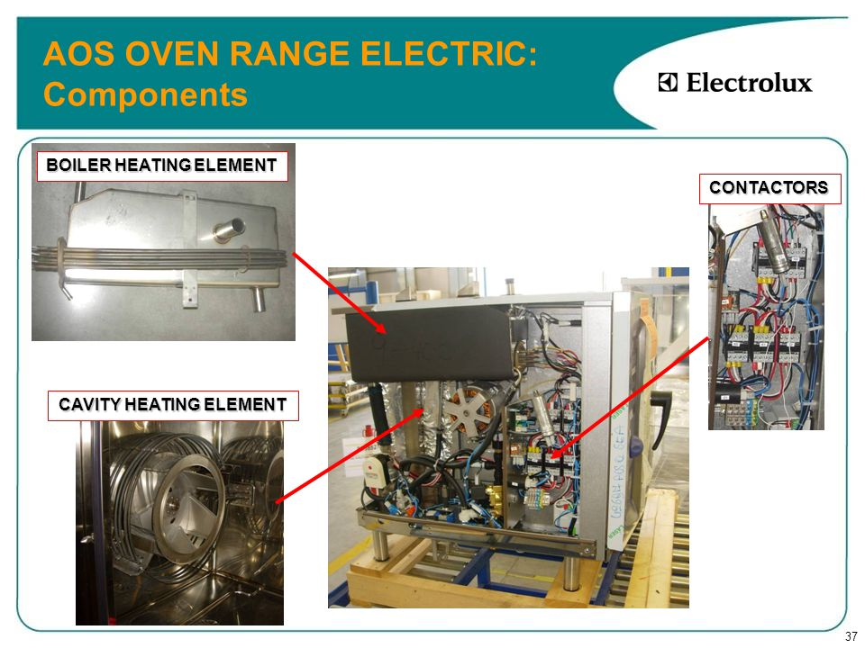 AOS OVEN RANGE ELECTRIC: Components