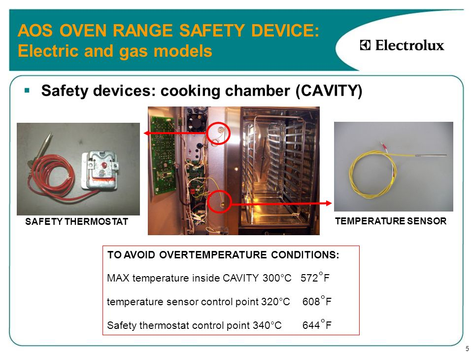 AOS OVEN RANGE SAFETY DEVICE: Electric and gas models