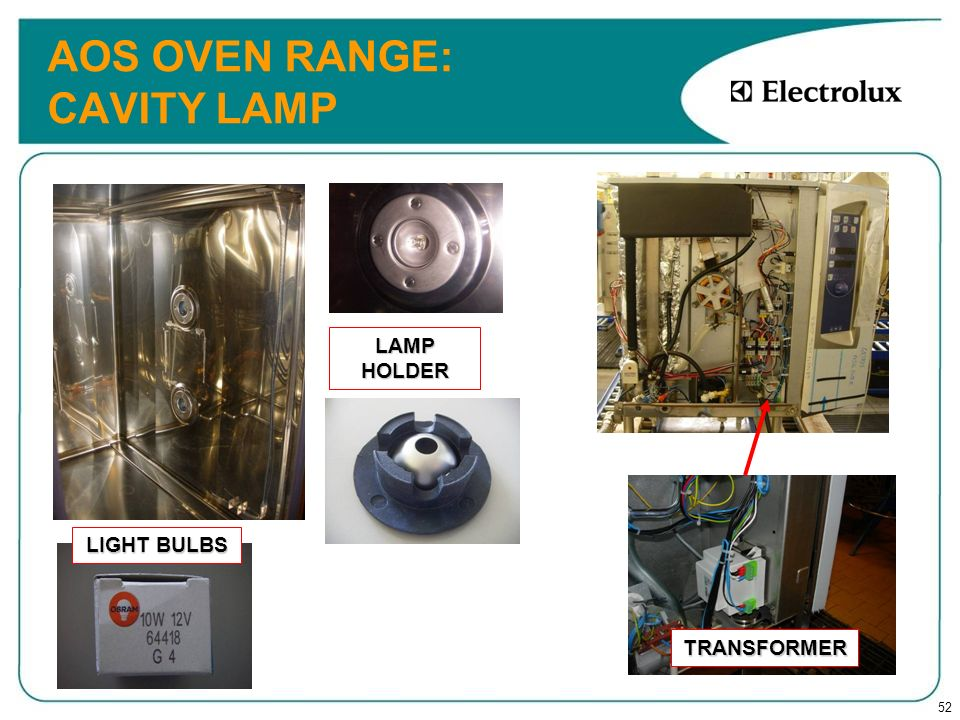 AOS OVEN RANGE: CAVITY LAMP