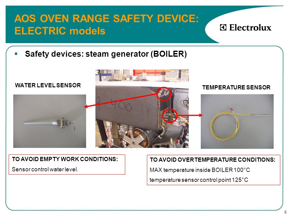 AOS OVEN RANGE SAFETY DEVICE: ELECTRIC models