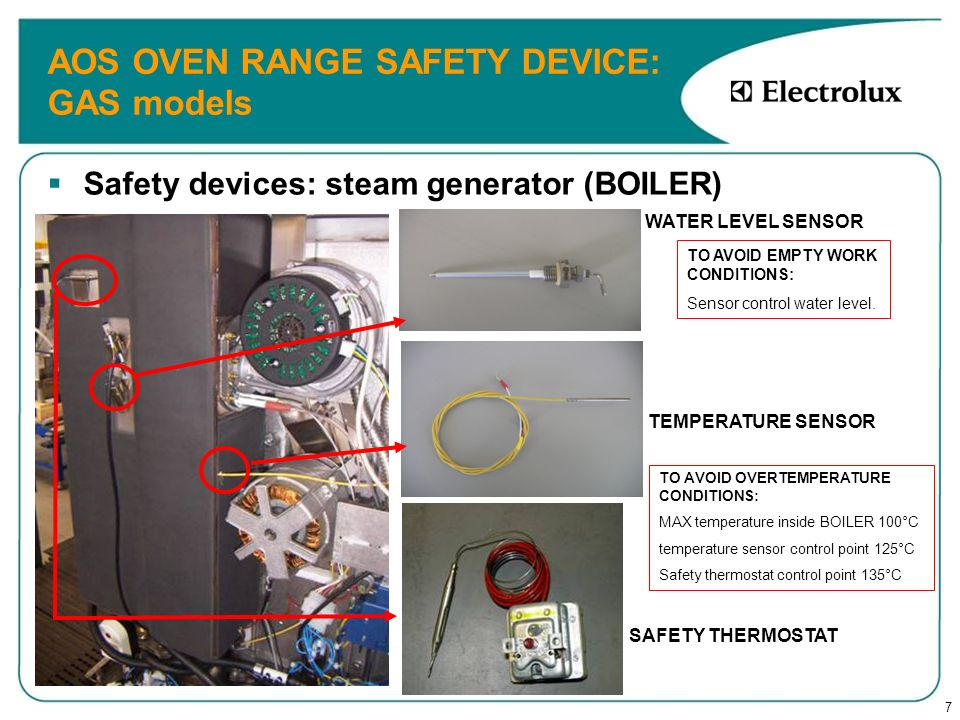 AOS OVEN RANGE SAFETY DEVICE: GAS models