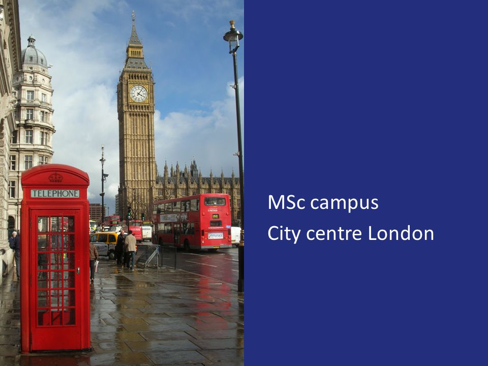 MSc campus City centre London